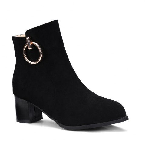 Fashion Women's Ankle Boots Metal Decor Faddish Boots
