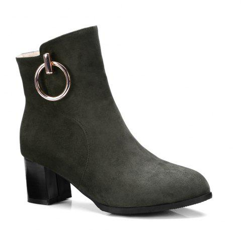 Latest Women's Ankle Boots Metal Decor Faddish Boots