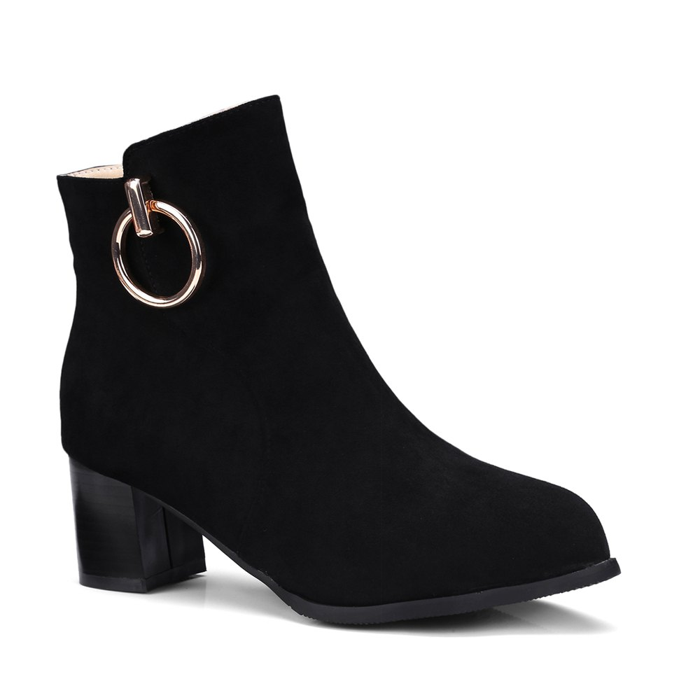 Chic Women's Ankle Boots Metal Decor Faddish Boots