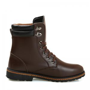 Men 'S Shoes Fashion Martin Boots High Boots - BROWN 39
