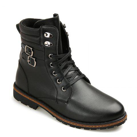 Chic Men 'S Shoes Fashion Martin Boots High Boots - 39 BLACK Mobile