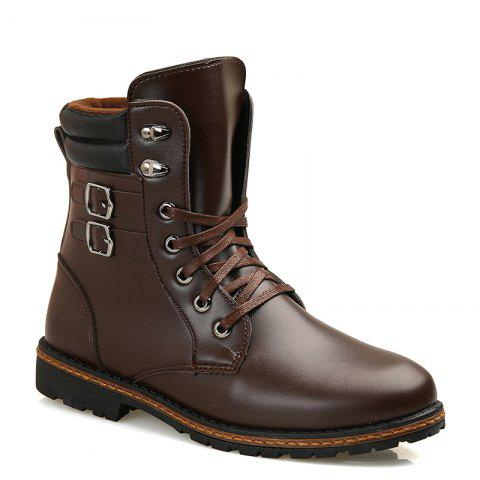 Discount Men 'S Shoes Fashion Martin Boots High Boots - 41 BROWN Mobile