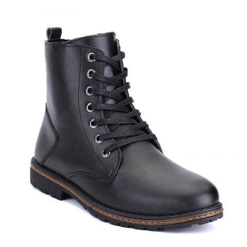Unique Men's Casual England Ankle Boots BLACK 39