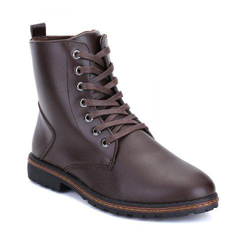 Trendy Men's Casual England Ankle Boots BROWN 44