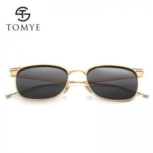 TOMYE 9916 Metal Round Frame Polarized Sunglasses for Men and Women -