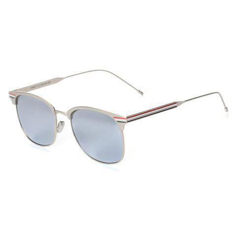 Online TOMYE 9916 Metal Round Frame Polarized Sunglasses for Men and Women