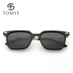 TOMYE 9926 2017 New PC Metal Square Fashion Polarized Sunglasses for Men and Women -