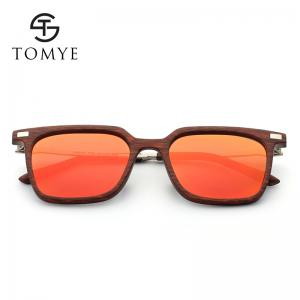 TOMYE 9926 2017 New PC Metal Square Fashion Polarized Sunglasses for Men and Women - RED+RED