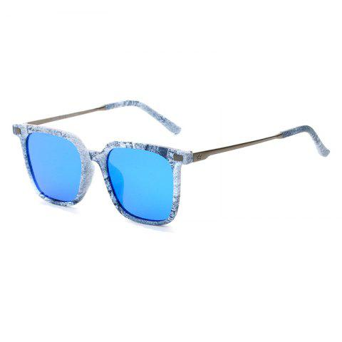Online TOMYE 9926 2017 New PC Metal Square Fashion Polarized Sunglasses for Men and Women ICE BLUE