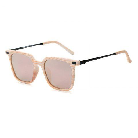 Discount TOMYE 9926 2017 New PC Metal Square Fashion Polarized Sunglasses for Men and Women PINK FRAME+PINK LENS