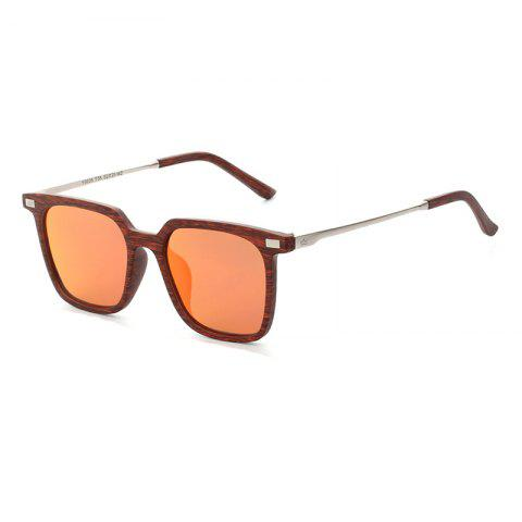Outfits TOMYE 9926 2017 New PC Metal Square Fashion Polarized Sunglasses for Men and Women - RED+RED  Mobile