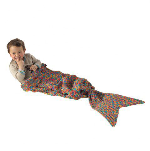 Cheap I-Baby Mermaid Tail Knit Crochet Blanket for Toddler Kid and Adult