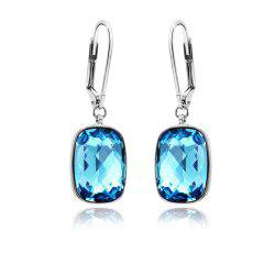 Ouxi Sterling Silver Ocean Blue Crystal Dangle Earrings for Woman girls - SILVER AND BLUE