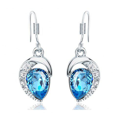 Store Ouxi Drop Earrings with Swarovski Crystals Waterdrop Dangle for Pierced Earrings SILVER AND BLUE