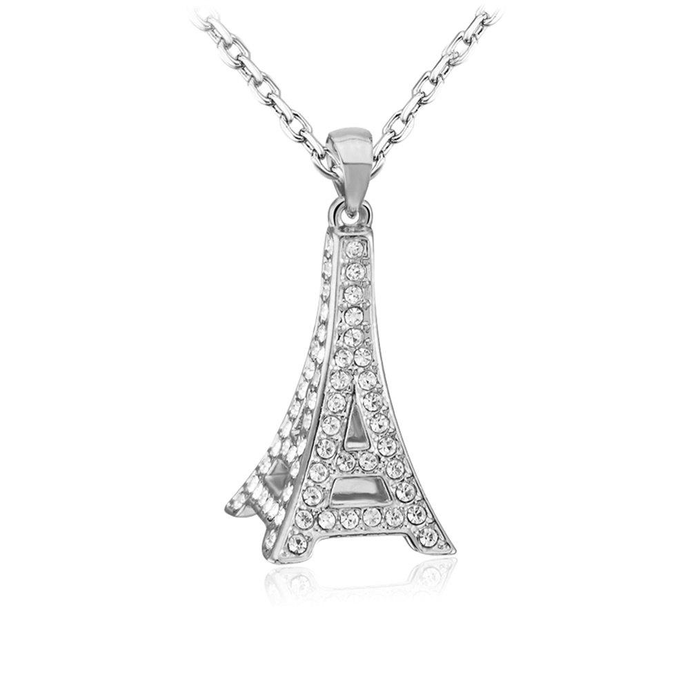 Best Sterling Silver 3D Paris Eiffel Tower Pendant Necklace Jewelry for Women & Girls as a Gift