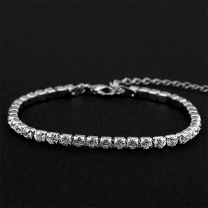 Ouxi Sterling Silver Heart Link Nickel Free Chain Bracelet -