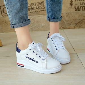 Autumn New White Shoes Women's Bottom Sports Shoes - CORNFLOWER 36