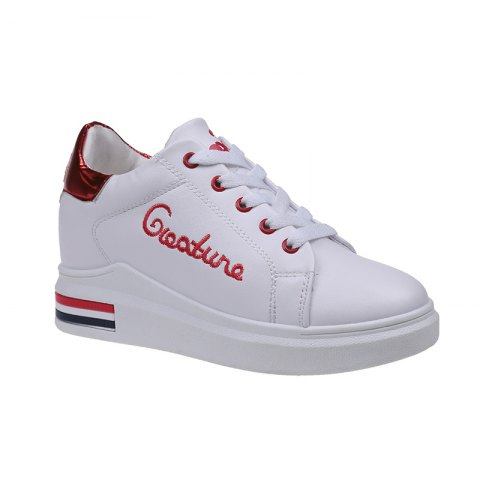 Online Autumn New White Shoes Women's Bottom Sports Shoes AMERICAN BEAUTY 38