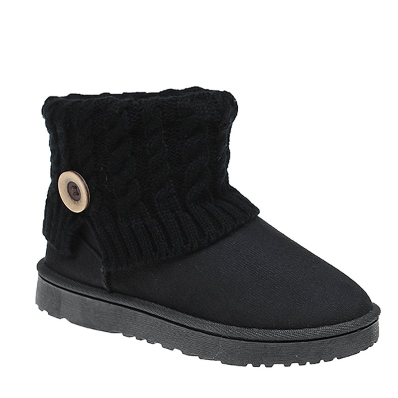 Anti-Skid Boots Female Winter Wool Frosted Short Thick Soled Shoes With Flat Tube Snow Cashmere Thermal Short BootsSHOES &amp; BAGS<br><br>Size: 40; Color: BLACK;