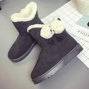 Winter Short  Female  Short Sleeve Snow Boots Fashionable Suede Plus Anti Slip Boots -