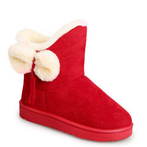 Buy Winter Short  Female  Short Sleeve Snow Boots Fashionable Suede Plus Anti Slip Boots