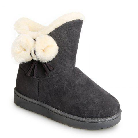 Trendy Winter Short  Female  Short Sleeve Snow Boots Fashionable Suede Plus Anti Slip Boots