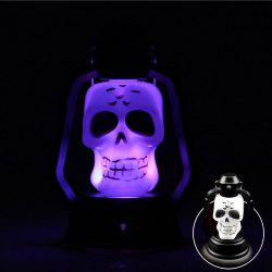 YWXLight Skull Pattern Halloween Festival Props LED Flash Lantern Night Light -