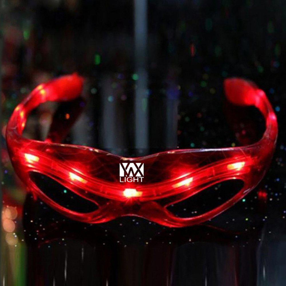 YWXLight LED Spider Man Glasses Luminous Halloween Party Decoration SuppliesHOME<br><br>Color: RED; Holder: Other; Input Voltage: DC 5V; Wattage: 0.5W; Luminous Flux: 20 LM; Material: PC,Plastic; LED Quantity: 9 LED; Available Light Color: Blue,Green,Red; Power Source: Button Cell; Suitable for: Holiday Decoration,Party;