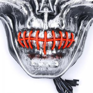 YWXLight Halloween Horror Party Skull Head Mask LED Flashing Luminous Neon Light -