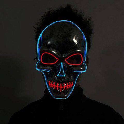 Fashion YWXLight Halloween Horror Party Skull Head Mask LED Flashing Luminous Neon Light