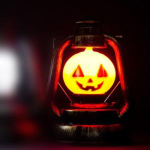 YWXLight Halloween Deco Hand Pumpkin Lantern Lamp Portable Nightlight Ghosty Laughter Light - ORANGE