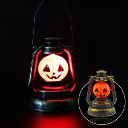YWXLight Halloween Deco Lampe de lanterne citrouille à la main Veilleuse portative Ghosty Laughter Light - Orange