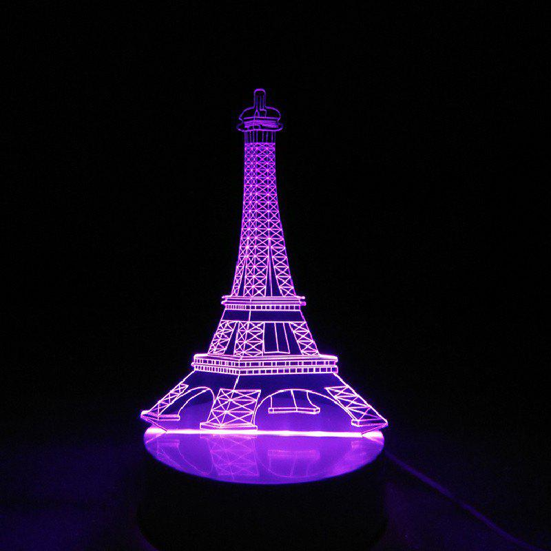 DSU Eiffel Tower 3D Night Light Touch Table Desk LampHOME<br><br>Color: RGB; Wattage: Other; Mini Voltage: 5V; Light Source Color: Multi Color,Remote control 7-Color,RGB; Light Type: Indoor Light,LED,LED Night Light,LED Table Lamps,Night Light,Table Lamp,USB Lights; Power Source: USB charging; Connector Type: USB; Electric Products: Supporting Electrical Products; Features: Color-changing,Remote Controlled; Color Temperature or Wavelength: RGB; Battery Quantity: 1; Quantity: 1; Style: Artistic Style;