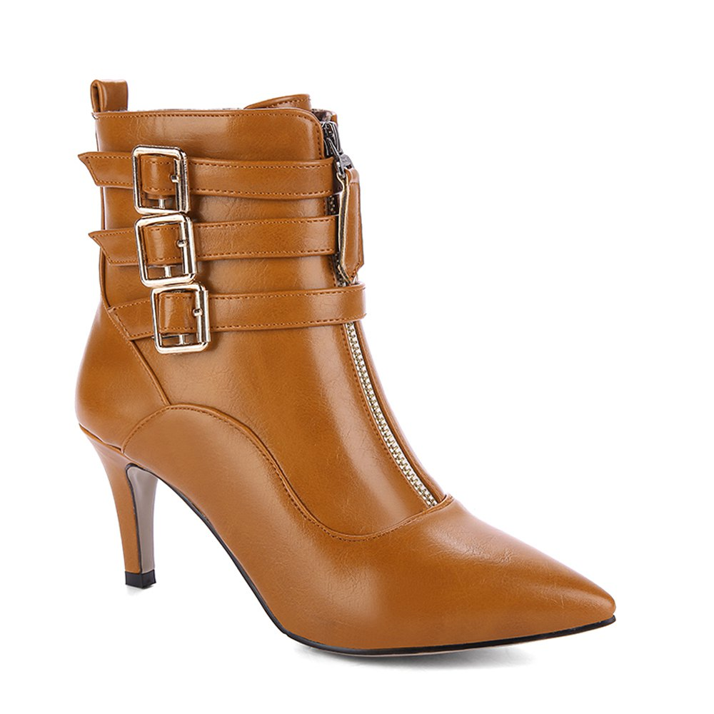Buy Women's Short Boots Fashion Pointed High Thin Heels Shoes