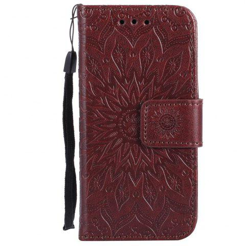Latest Sun Flower Printing Design Pu Leather Flip Wallet Lanyard Protective Case for iPod Touch 5 / 6
