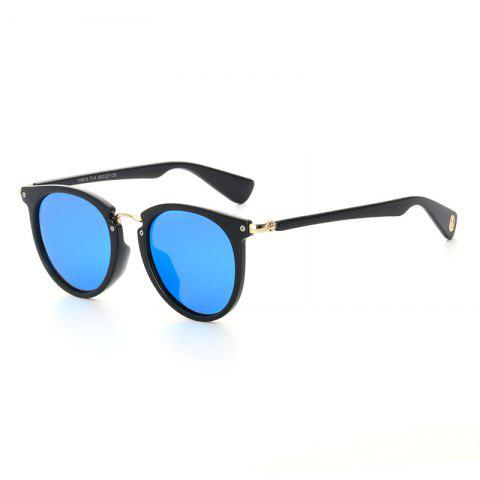 Buy TOMYE 9910 Round Frame Polarized Neutral Sunglasses - BLUE AND BLACK  Mobile