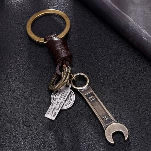 Men'S Key Ring Wrench Molding Punk Brief Key Ring Accessory -