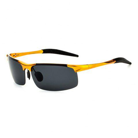 Outfit TOMYE 8177 Outdoor Sports Polarized Lens Neutral Sunglasses GOLDEN