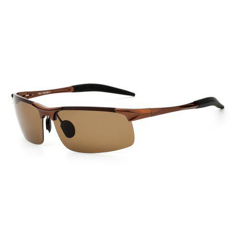 Fancy TOMYE 8177 Outdoor Sports Polarized Lens Neutral Sunglasses - TEA-COLORED  Mobile