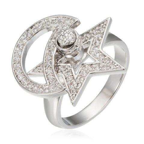 Outfits Copper Rehinestone Star Ring PLATINUM 7