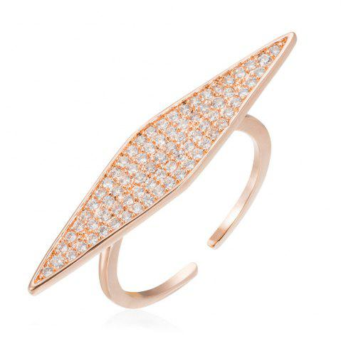 Affordable Copper Rehinestone Rhombic Fashion Lady'S Ring