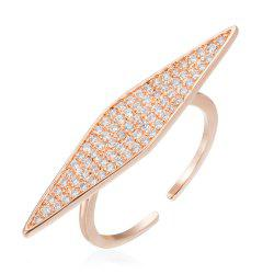 Copper Rehinestone Rhombic Fashion Lady'S Ring -