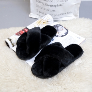 Plush Cotton Slippers Women's Soles Sinter Indoor Slippers -
