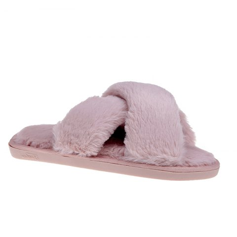 Online Plush Cotton Slippers Women's Soles Sinter Indoor Slippers - 40 PINK Mobile
