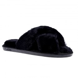Plush Cotton Slippers Women's Soles Sinter Indoor Slippers - BLACK 38