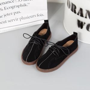 Fall School Style Frosted Sole Shoes Lace UPS Casual Shoes Flat Bottomed Women's Shoes - BLACK 39