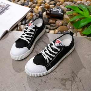Autumn Canvas Shoes Women's Shoes New Flat Bottomed Tie UPS Casual Shoes - BLACK 39