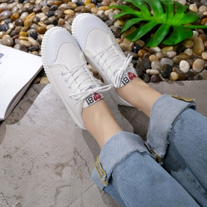 Autumn Canvas Shoes Women's Shoes New Flat Bottomed Tie UPS Casual Shoes -