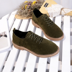 British Style Leather Shoes New Lace UPS Single Shoes Women's Whoes -