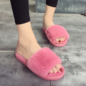European Style Lady Slippers Warm Plush Autumn And Winter Indoor Home Cotton Slippers -